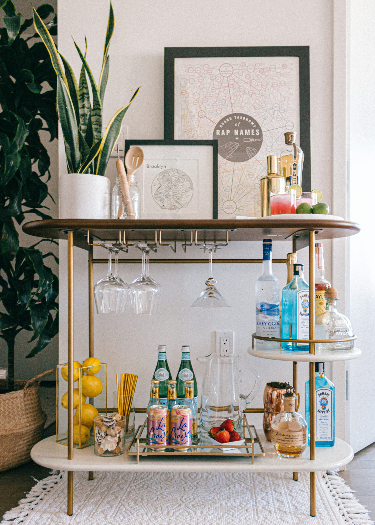 Bar Cart Styling Melissa Frusco